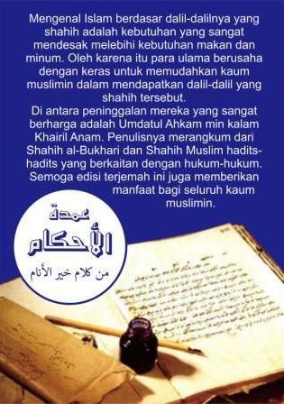 terjemah-umdatul-ahkam-hadits-hadits-pilihan-dari-bukhari-muslim