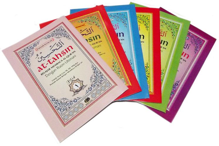 Judul Buku: Buku Paket At Tahsin Belajar Membaca Al Quran Dengan Rasm Utsmani Penerbit Gema Ilmu Penyusun: Fajriyah Na'im S.S Penerbit: Gema Ilmu